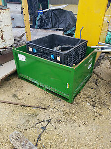 48 X 36 X 20 Deep Green Metal Storage Bin