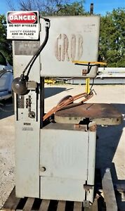 Grob 18 ns18 Vertical Bandsaw W bw 2 Blade Welder Mechanical Powerfeed 10 Spds