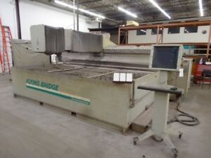 Flow Cnc Flying Bridge Waterjet abrasive Table Flowcut Control 84 x156 Travel