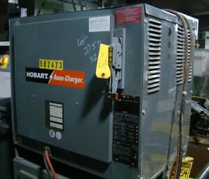 Hobart Accu charger 24 Volt 600 Amp Hour Auto Forklift Battery Charger 600c3 12
