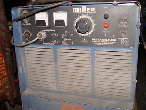 Miller Deltaweld 450 Constant Dc Arc Power Source Including Miller S 52d Feeder