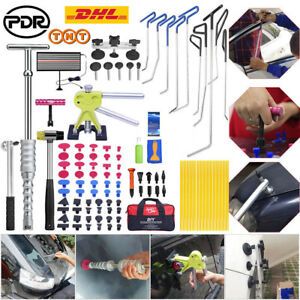 108pc Paintless Dent Removal Pdr Push Rods Dent Puller Lifter Repair Tool Kits