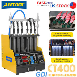 Autool Ct200 6 cylinder Ultrasound Fuel Injector Cleaner Tester For Car Motor