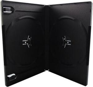 14mm Standard Black Double 2 Discs Dvd Case 70 Pack
