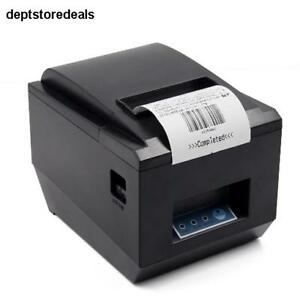 Pos Thermal Usb Square Receipt Printer Ethernet Lan Serial Port Auto Cutter