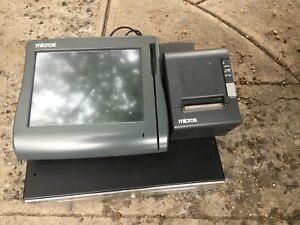 Micros Workstation Ws4 Lx Pos System Windows Embedded Ce Cash Drawer Printer