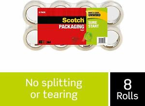 3m Scotch Shipping Tape 3500 Sure Start Packing Packaging 8 Rolls 1 88 X 54 6 Yd