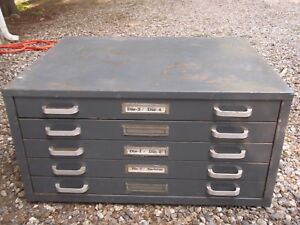5 Drawer Plan Flat File Storage Cabinet Map Blueprints Tool Box