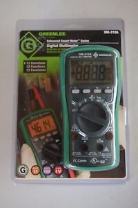 Greenlee Auto Manual Smart Meter Digital Multimeter W 13 Functions Leads