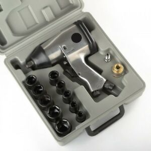17pc 1 2 Air Impact Wrench Gun Kit W Sockets And Case Metric New Free Shiping
