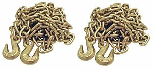 2 Pack 5 16 20 G70 Tow Chain Tie Down Binder Flatbed Truck W Hooks Grade 70
