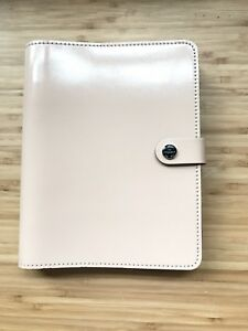 Filofax The Original A5 Size Leather Organizer Agenda Patent Nude 2017 Calendar