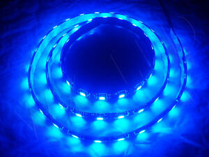 1 Meter Blue 60 Led Black Pcb Flexible Waterproof 5050 Smd Led Strip