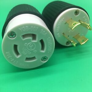 L14 30 Plug And Connector Set For Generator Power Cables Generic