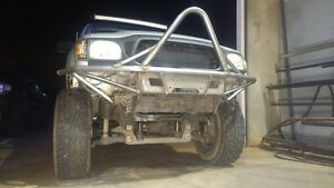Hot Metal Fab 2001 2004 Toyota Tacoma Tube Bumper With Winch Mount