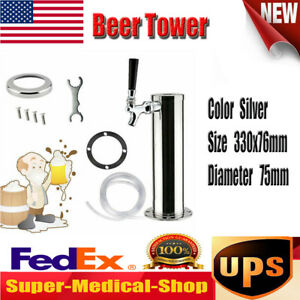 Draft Beer Tower 1 Taps One Faucet Stainless Steel Homebrew Bar Fit Kegerator