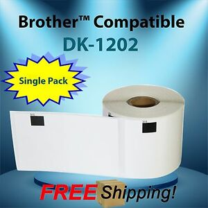 1 Roll Of Labels123 Brand fits Dk 1202 Brother Ql500 700 2 3 7 x4 P Touch