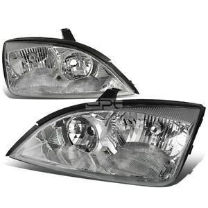 Fit 2005 2007 Ford Focus Pair Chrome Housing Clear Side Corner Headlight Lamp