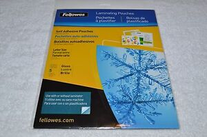 Fellowes Crc52205 Laminating Pouches 9 X 12 Self Adhesive 5 Sheets