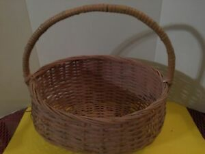 Antique Painted Wicker Gathering Basket