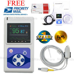 Us Seller Handheld Spo2 Pulse Oximeter Oled alarm pc Software Fda Ce Sale