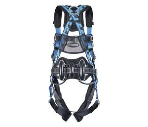 Miller Aircore Full Body Harness S m 400 Lb Capacity Back front side D rings