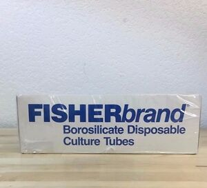 Fisherbrand Disposable Culture Tubes 12 X 75mm P n 14 962 10b