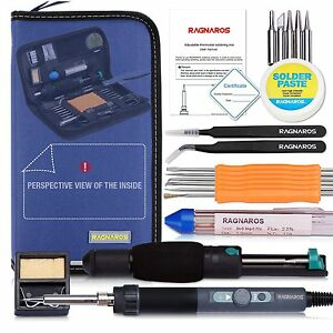 Best Soldering Iron Kit Full Set In Organize Case 70w 110v Adjustable Thermostat