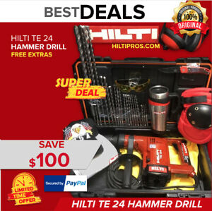 Hilti Te 24 Hammer Drill Excellent free Mug Bits Extras Fast Shipping