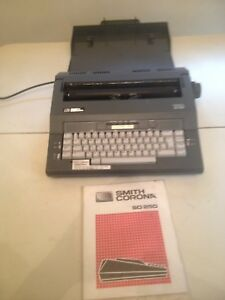 Smith Corona Typewriter Sd250 Spell Right Ii Dictionary Case Manual Included