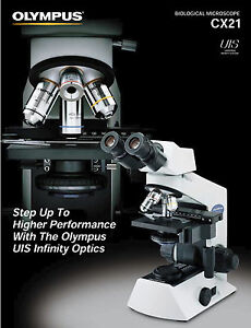 Olympus Cx21 Microscope With 4x 10x 40x And 100x nda 100 1 30 Oil Objectives