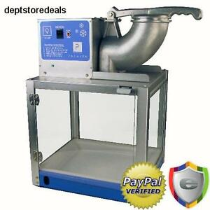 Ice Snow Cone Machine Sno Shaver Maker Crusher Shaved Electric Icee Commercial