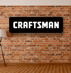 Craftsman Tools Vinyl Banner Sign Garage Shop Mancave Mechanic Adversting