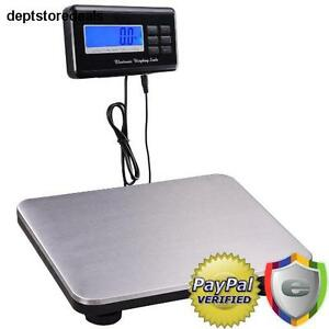 660lbs Lcd Ac Digital Floor Bench Scale Postal Platform Shipping pet 300kg Weigh
