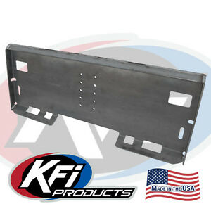 Kfi Attachment Mount Plate Skidsteer Bobcat Skid Steer 110050