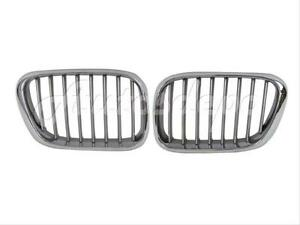 For 2000 2003 Bmw X5 E53 Front Kidney Grille titanium Look Set New