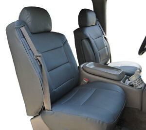 Chevy Silverado 2003 2006 Charcoal Leather like Custom Front Seat