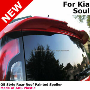 For 14 Kia Soul Color Matched Painted Rear Trunk Spoiler Clear White Ud