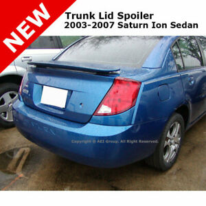 Saturn Ion 4 Dr 4dr 03 07 Trunk Spoiler Rear Painted Arrival Blue Met Wa815k