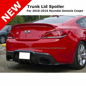 For Hyundai Genesis Coupe 10 14 Trunk Rear Spoiler Painted Clear Super Red Nga