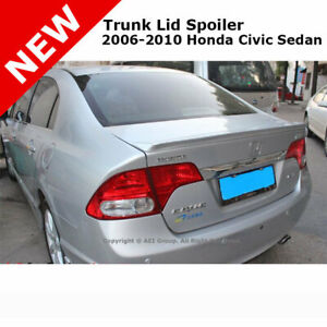 For Civic 4d 06 11 Trunk Rear End Lip Spoiler Painted Alabaster Silver Nh700m