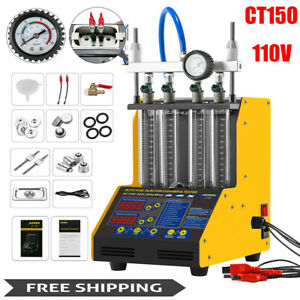 Autool Ct150 Car Motorcycle Ultrasonic Fuel Injector Cleaner Tester Machine