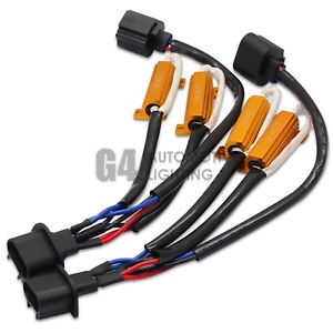 New H13 9008 Hid Led Resistor Kit Relay Harness Anti Flicker Error Free Decoder
