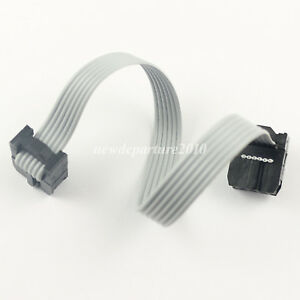 200pcs 2 54mm Pitch 2x3 Pin 6 Pin 6 Wire Idc Flat Ribbon Cable Length 8cm
