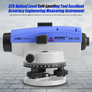 Sw c32 32x Automatic Auto Level Optical Engineering Leveling Measure Tool W Case