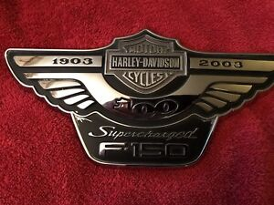 Harley davidson Ford F 150 Supercharged Anniversary Emblem