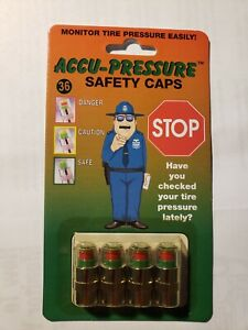 Accu Pressure Safety Cap Tire Valve 30 32 34 36 50 Psi Set Of 4