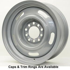 Vision 55 Steel Rally 15x7 5x5 6 Offset Silver Qty Of 1