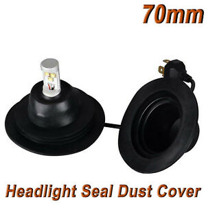 70mm Universal Housing Dust Cap Seal Cap Dust Cover For Hid Led Headlight Kit