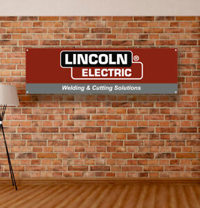Lincoln Electric Vinyl Banner Sign Garage Workshop Many Size Logo Dealer
